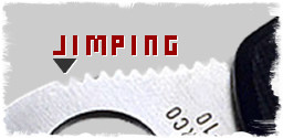 Example of jimping on the back of blade