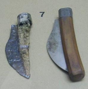 Oldest known folding pocket knife