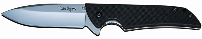 US made folding knife with 14C28N blade steel, G10 handle and flipper deployment.