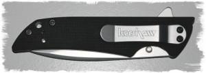 Pocket clip, knife closed